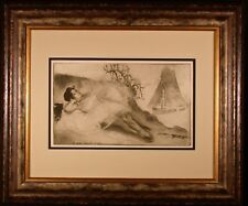 Something Or Other Original Etching by Louis Legrand