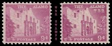 1043 1043a The Alamo 9c Liberty Issue Color Variety Set of 2 MNH - Buy Now