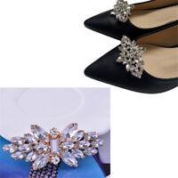 1PC Women Shoes Decoration Clips Crystal Shoes Buckle Bridal Wedding Decor EO