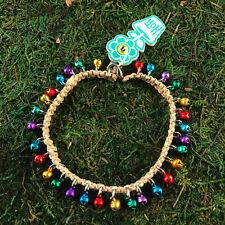 Metallic Bells Anklet Ankle Bracelet Nwt Hoti Hemp Handmade Natural Multi Colour