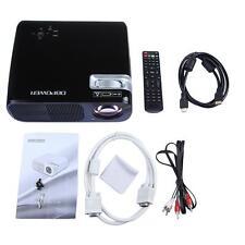 "New listing Black Bl-20 1080P Hd Lcd Projector 5"" Tft Hdmi Usb Sd Tv Home Cinema Theater"