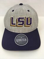 LSU TIGERS LOUISIANA STATE ZEPHYR  Z-FIT STRETCH FIT Hat,cap, S/M fitted Purple