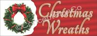 4'x10' CHRISTMAS WREATHS BANNER Outdoor Sign XL Holiday Sale Fresh Garland Trees