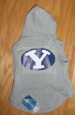 YALE UNIVERSITY Dog Hoodie Sweatshirt  MEDIUM Gray Hunter OFFICIAL COLLEGIATE Y
