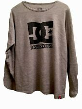 Mens DC Medium Longsleeve Lightweight Thermal Shirt Medium Rob Dyrdek Gray