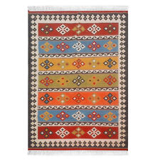 Hand Woven Wool Rug Traditional Kilim Dhurrie Persian Oriental Area Rug 6X9 ft
