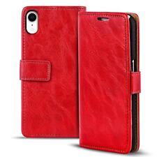Étui pour Portable Apple IPHONE XR Coque Housse Pliante PU Cuir Wallet Rouge