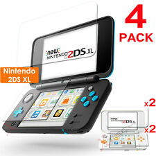 4 x Clear LCD Screen Protector Guards with Cloth for Nintendo 2DS XL Console