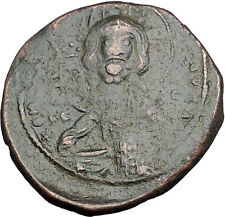 JESUS CHRIST Class A2 Anonymous Ancient 1025AD Byzantine Follis Coin i49970