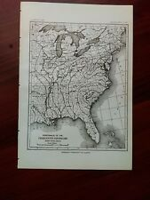 1887 U.S. Map of Isoseismals of Charleston South Carolina Earthquake
