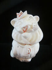 Vintage Belmont Pottery Winking Lion Cookie Biscuit Jar Original