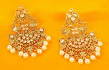 Indian Bollywood Christmas Earrings Wedding Gold Plated Jhumka Jhumki Polki Set