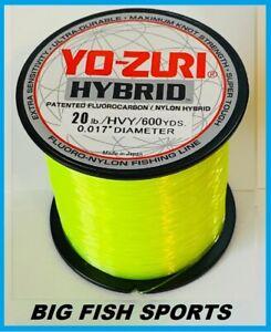YO-ZURI HYBRID Fluorocarbon Fishing Line 20lb/600yd HIVIS NEW! FREE USA SHIP!