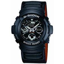 Casio aw591ms / 1A neobrite Leather Band G SHOCK Alarm Cronografo-Nero