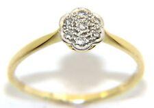 Mujer 18 Ct 18 Quilates Amarillo Oro Conjunto Anillo De Compromiso Diamante