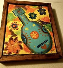 Spanish Guitar Festival Themed 16x20 Canvas With Custom Frame
