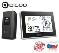 Digoo Touch Screen Wireless Weather Station Thermometer Clock + Outdoor Sensor