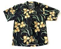 Tommy Bahama Hawaiian Aloha Floral Mens Silk Short Sleeve Beach Shirt Medium M