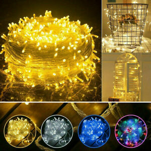 100-1000LED String Fairy Lights Christmas Tree Lamps Outdoor Party Wedding Decor