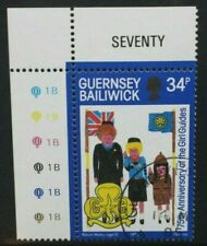 GUERNSEY 1985 75th Anniversary of Girl Guide Movement. Set of 1. USED CTO. SG342