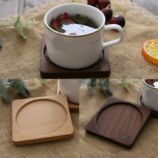 Natural Round Wooden Slice Cup Mat for DIY Tableware Decoration Durable Coaster