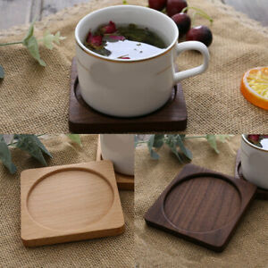 New Natural Round Wooden Slice Cup Mat DIY Tableware Decoration Durable Coaster