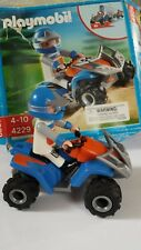 Playmobil Racing SetRetired 4229 quad bike car & racer figure, fast pull back