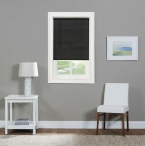"NEW Achim GII Morningstar Cordless 1"" Light Filtering Vinyl Blind - Black"