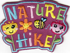 """""""NATURE HIKE"""" IRON ON EMBROIDERED PATCH - SPORTS - HIKING - OUTDOORS"""