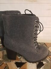 NIB - LANE BRYANT Women's 'ZINC GRAY' Wide Gray BOOTIES - 9 W