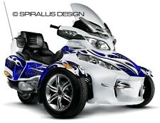 "Can Am Spyder RT graphic wrap decal body kit ""Webbed Tribal Flame"""