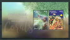 Singapore 2017 MNH Corals JIS Indonesia 2v M/S Fish Fishes Marine Stamps