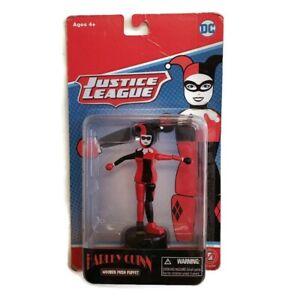 DC Comics WB Entertainment Justice League Harley Quinn Wooden Push Puppet Age 4+