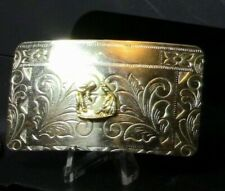 Silver Plated Dancing Couple Belt Buckle