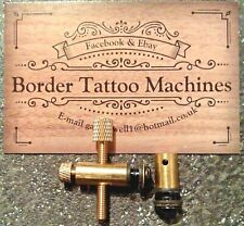 HANDMADE,1 X SET SOLID BRASS TATTOO MACHINE BINDING POSTS FRONT & BACK M4 THREAD