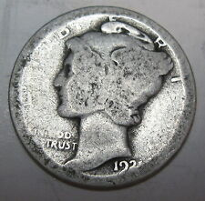 1921 silver Mercury dime ten cents collector coin (#511f)