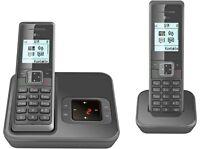 T-SINUS A206+1 DUO Schnurlos Telefon + Anrufbeantworter 2 Mobilteile Schnurloses