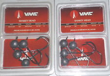 VMC Barbarian Shakey Jigs (Lot of 2-Unpainted-1/4-4/pk)
