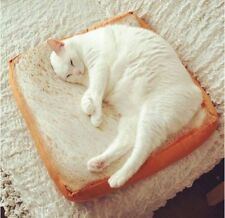 Pet Fashion Cartoon Bread Toast Cushion Mat Soft Cat Small Dog Bed Katzenbett