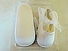 Baby Girl White Occasion Satin Fabric Christening Wedding Special Day Bow Shoes