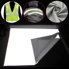 1Mx0.5M Sew On DIY Silver Reflective Fabric Safety Tape gray Sew-On 20'' x 39''