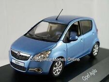 OPEL AGILA VAUXHALL MODEL CAR BLUE 1:43 SCALE SCHUCO SPECIAL DEALER ISSUE K8