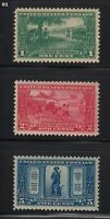 1925 Lexington Concord Sc 617-19 MNH set CV $36