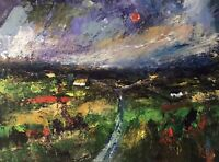 ORIGINAL PAINTING Acrylic On Canvas 'Welsh Farm '40x30cm