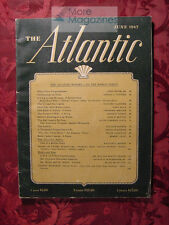 ATLANTIC June 1947 ARNOLD TOYNBEE WILLIAM SHIRER +++