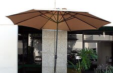 New Patio Outdoor 10' Aluminum Beach Market Sun Umbrella w/ Crank Shade - TAN