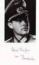German Knights Cross R.Prochazka signed 3x5 CARD
