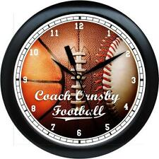 Personalized Sports Coach Football Basketball Baseball Gift  Wall Clock Gift