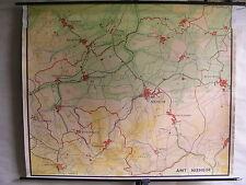 Schulwandkarte Wandkarte map Karte Amt Nieheim 173cmx142cm 1zu8300 Heimatkarte