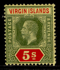 More details for british virgin islands gv sg77, 5s green & red/yellow, m mint. cat £45.